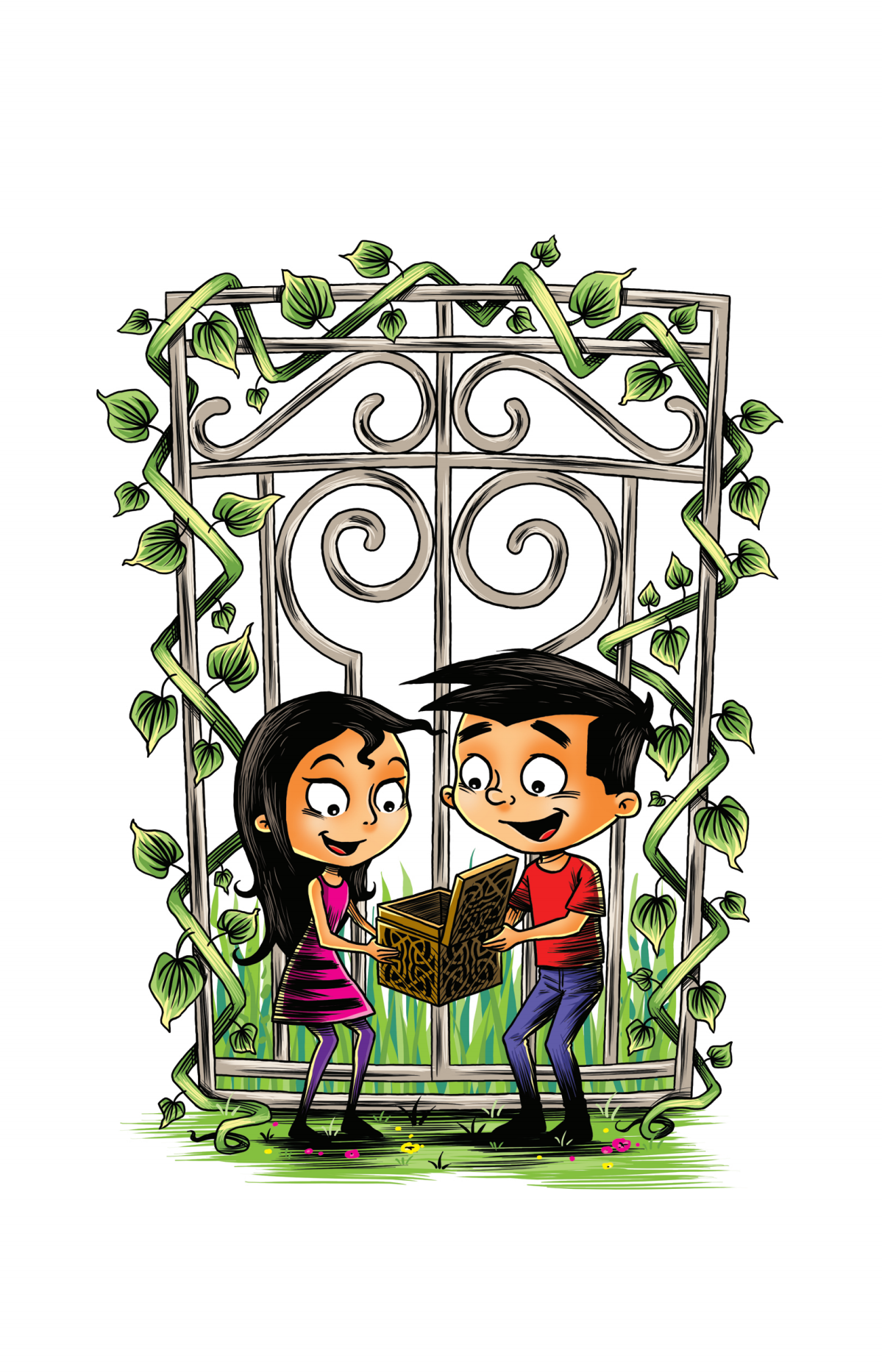 Illustrations for children's book: Stevie, Jane and the Special Box