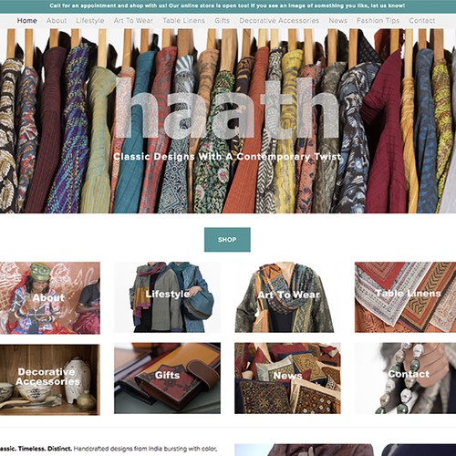 Indian inspired cothing website