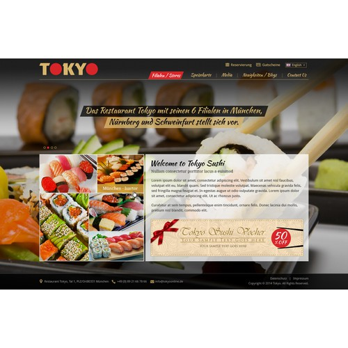 Design website for restaurant chain.