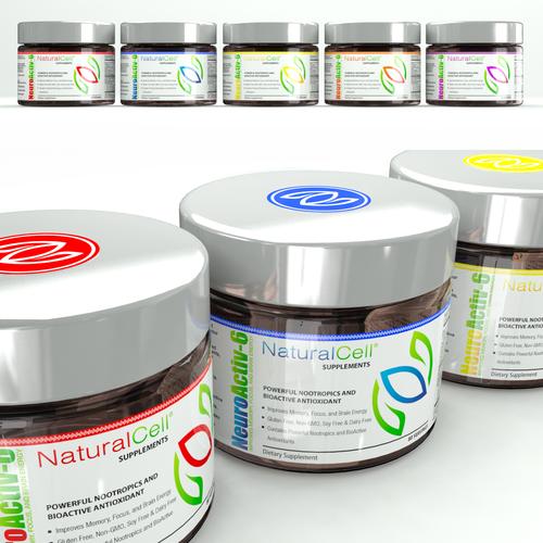 colorful vibrant jar label design