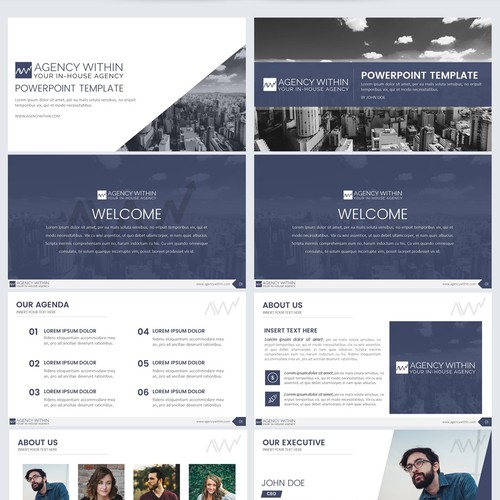 Powerpoint template for Digital Marketing Agency