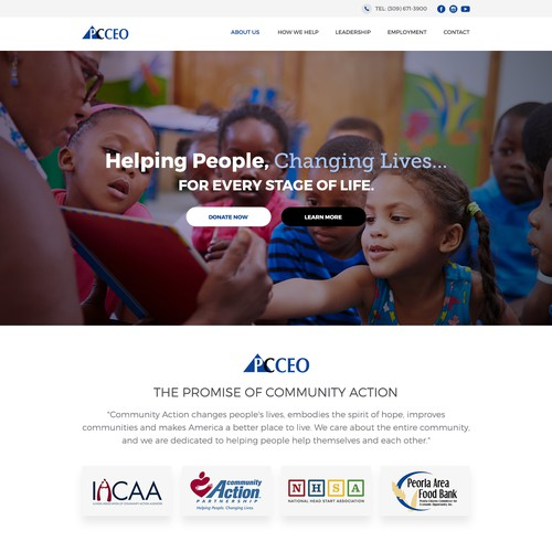 Website for non-profit organization