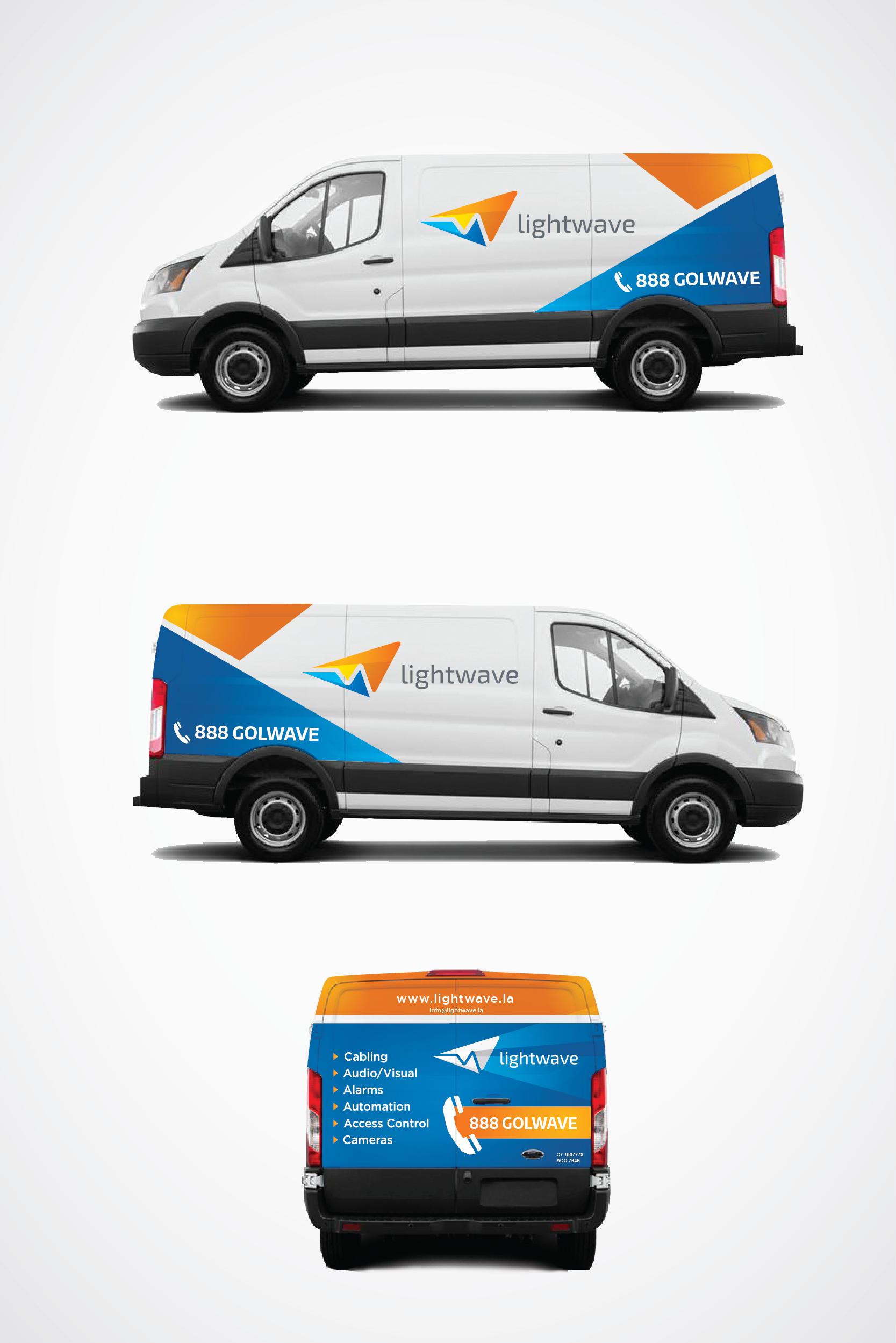Clean Looking Van Wrap for Lightwave