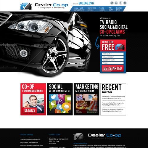 Landing Page For Dealer Co-op Management