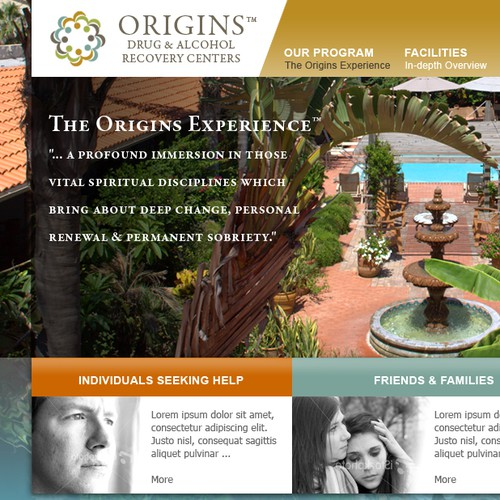 Origins Recovery Launches Gorgeous Site - Best Designers Only!