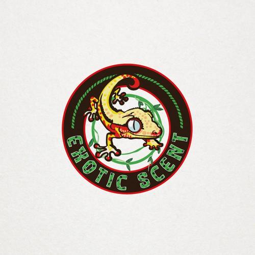 Exotic scent : un logo vivace a tema giungla