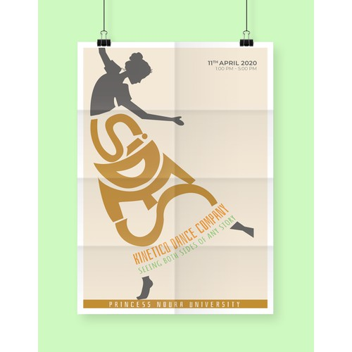 Innovative poster for dance show