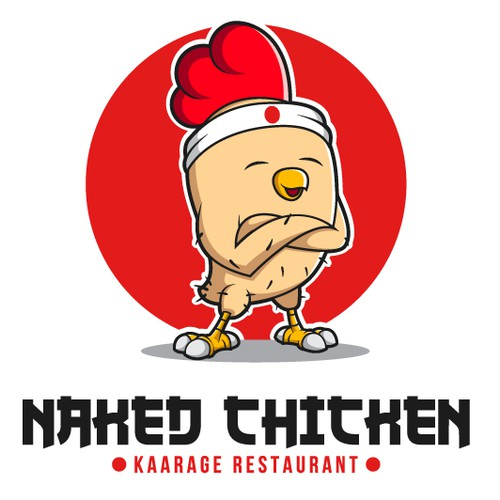 Chicken character logo concept for restaurant