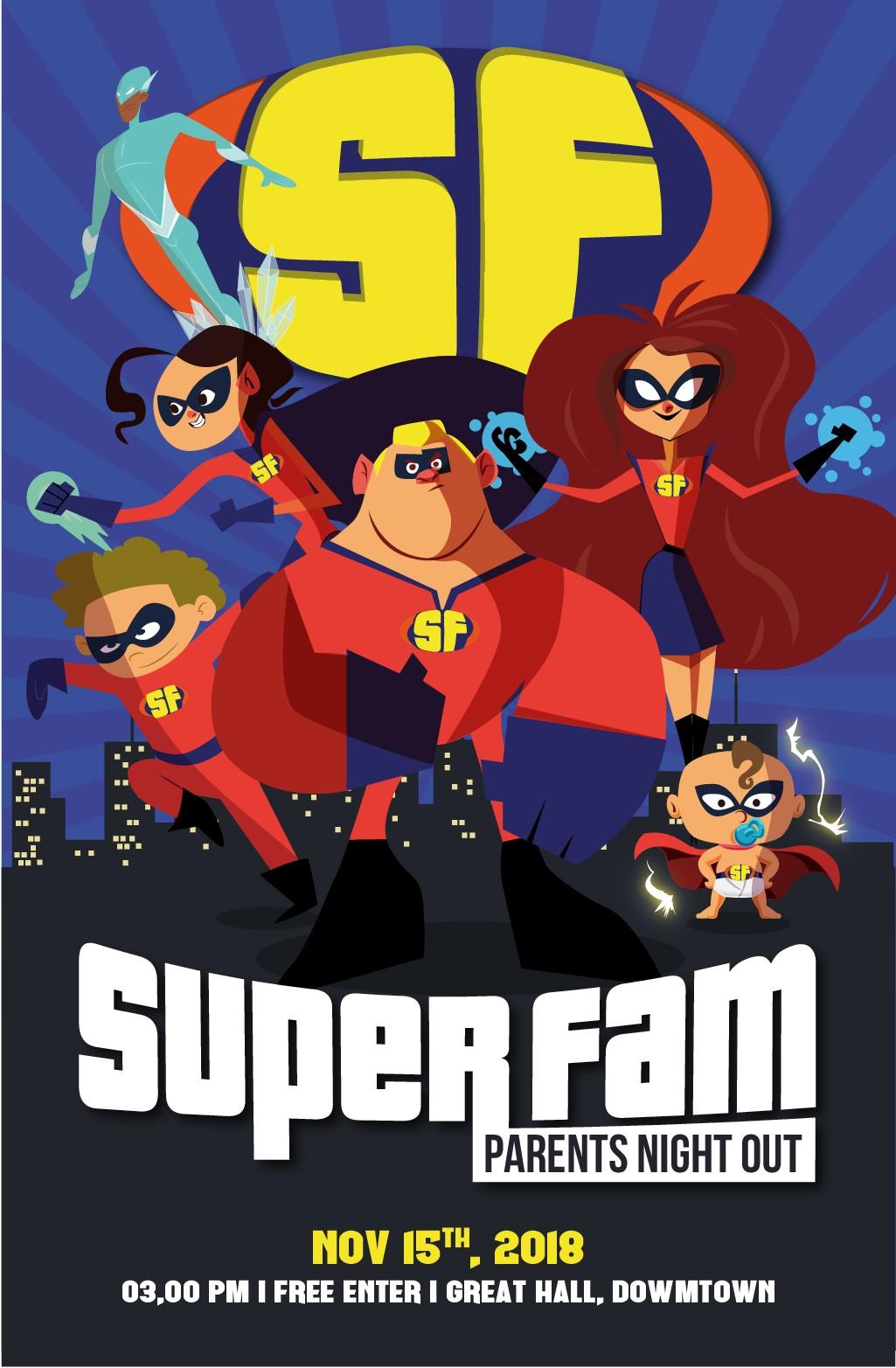 Incredibles Inspired Super Hero Poster