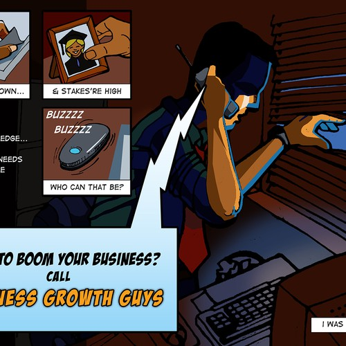 Marketing with graphic novel feel
