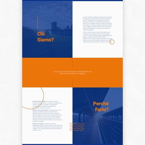Landing Page Concept for Scuola dei Talenti