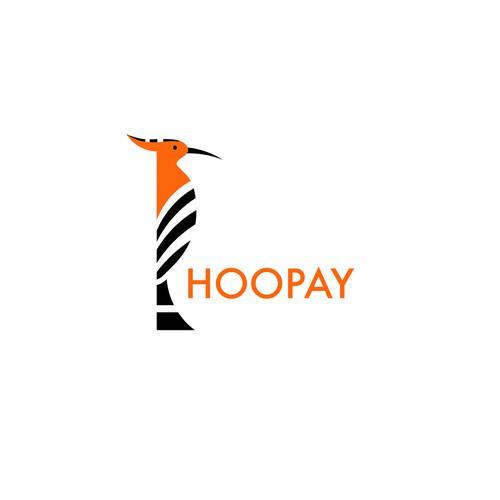 Minimalistic logo based on the hoopoe bird