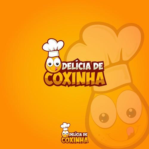 """Logo for Finger Food """" Delícia de Coxinha"""""""