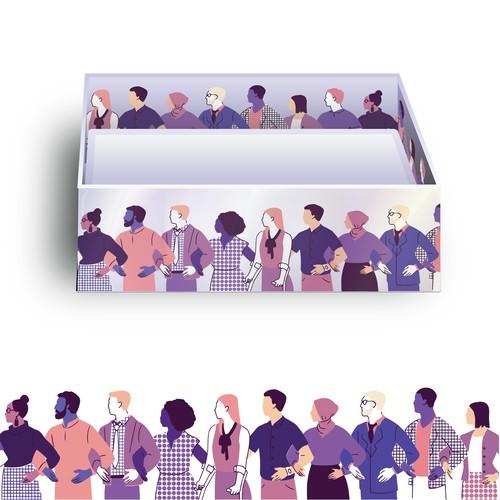 Original illustration for business card packaging