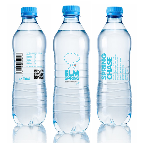 Label for water bottle