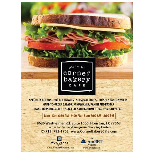 Create an ad for Corner Bakery Cafe
