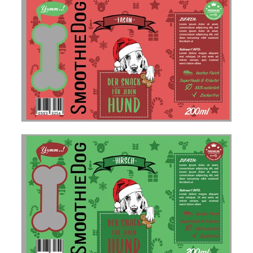 Christmas smoothie for dogs
