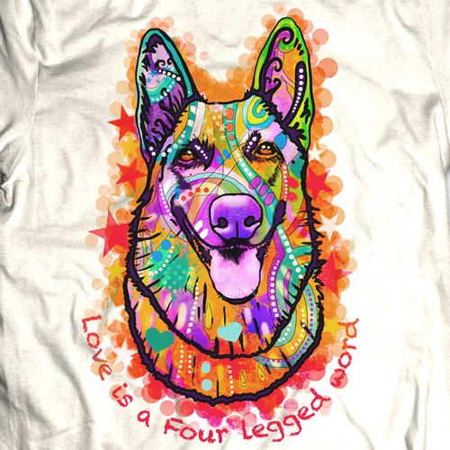 Creative dog t-shirt