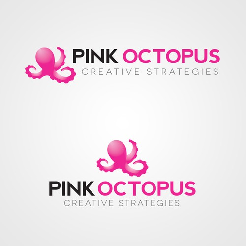 Pink Octopus Logo Design