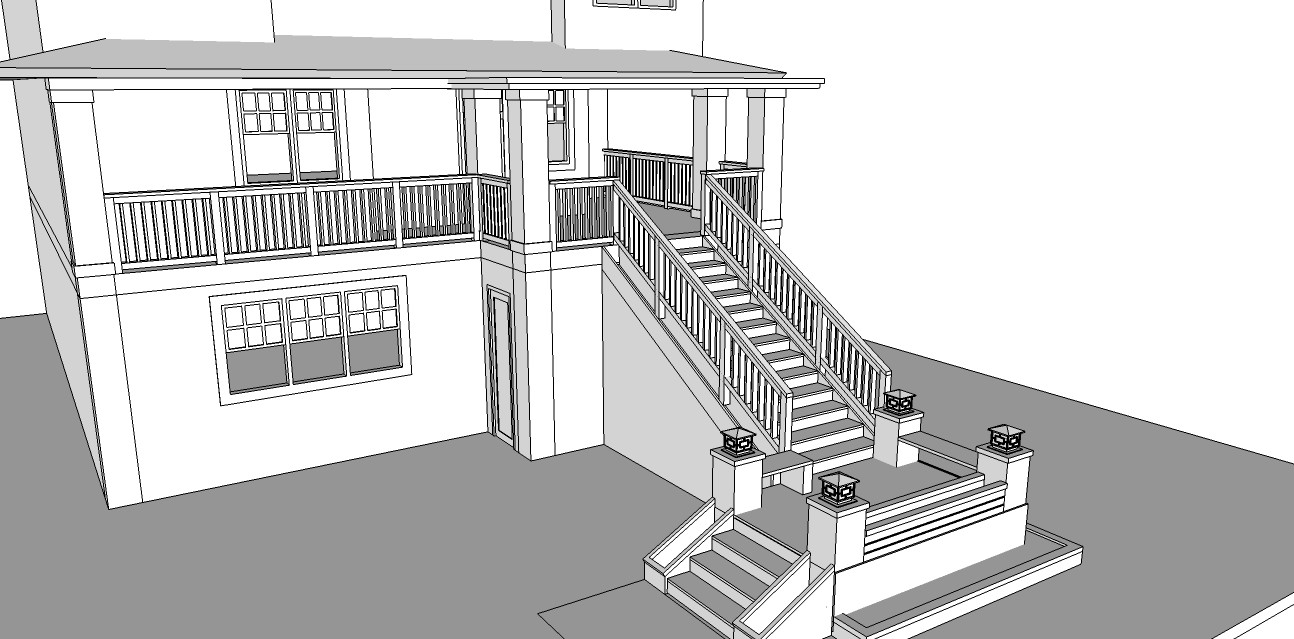 Redesign the front entry of house