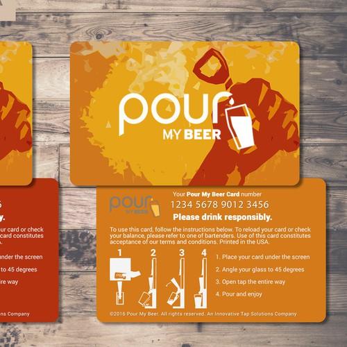Modern Smart Card Design for Innovative Beer Bar