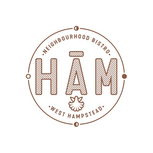 Stylish, imaginative logo and icon design for Hām, West Hampstead bistro.
