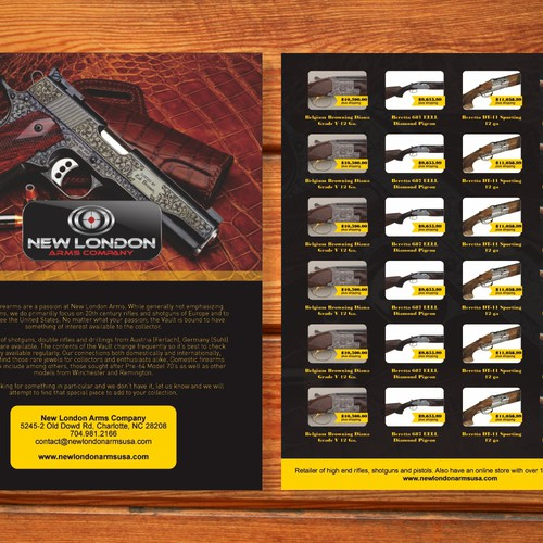 Help New London Arms Company with a new postcard, flyer or print