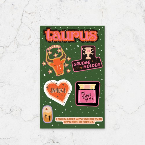 Taurus - Astrological Stickers