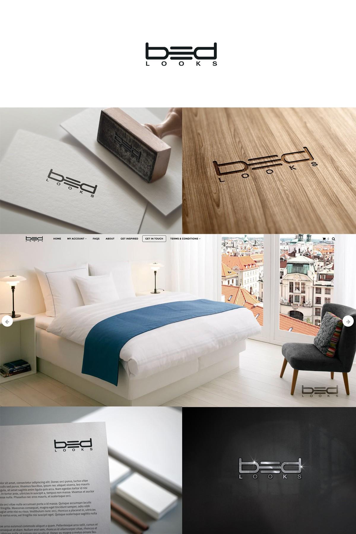 Create a simple, minimalistic logo for bedlooks.com. Hidden or subtle messages/symbolic appreciated
