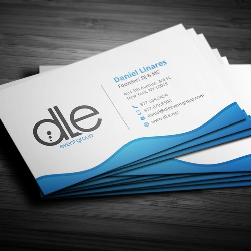 Modern Business card design for DLE Event Grou
