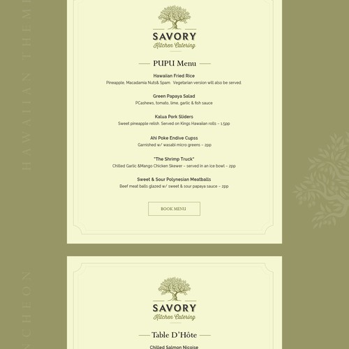 savory kitchen web page