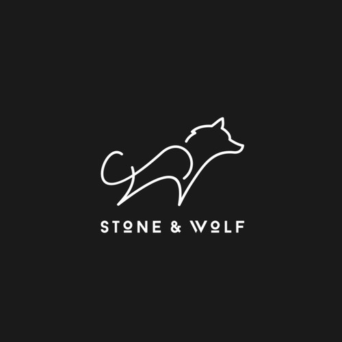 Abstract wolf logo