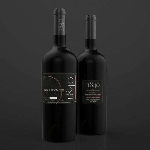 Label design for the Bordeaux wines
