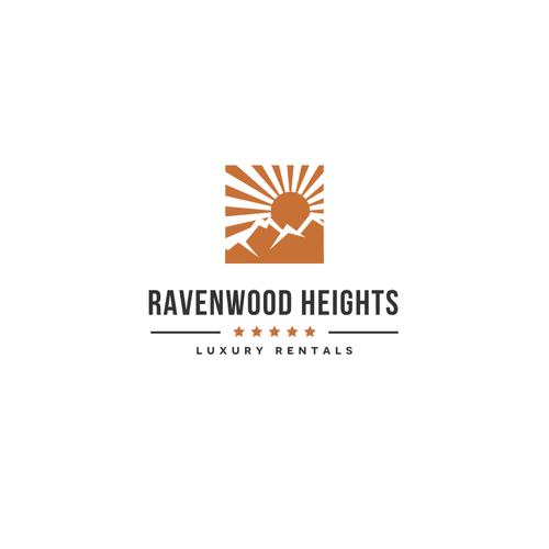 Modern vintage logo for luxury real estate rentals company