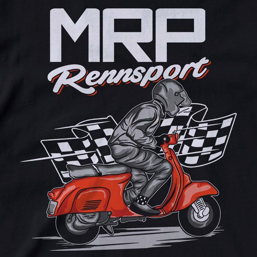 T-Shirt Design for a Vespa scooter tuning parts manufacturer