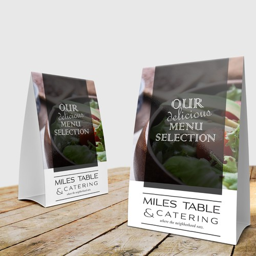 Restaurant Table Tent Card