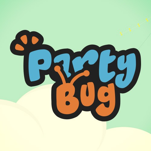 Logo for Party Bug, kids entertainment