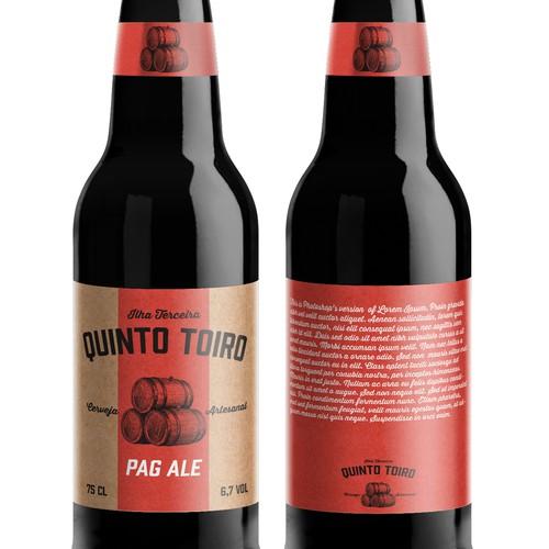 Label for new elegant craft beer brand