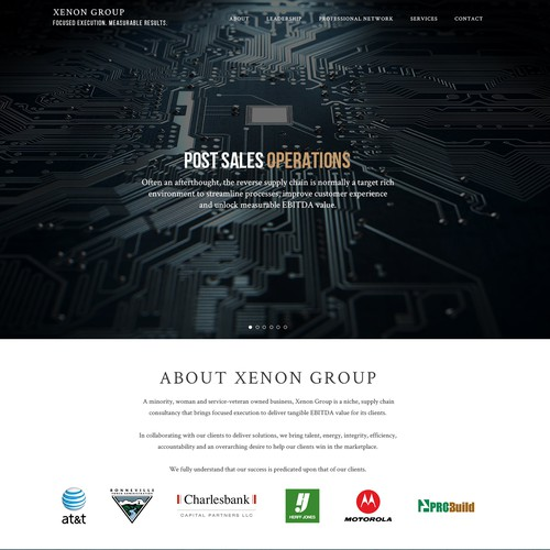 Xenon Group Needs a Stunning Web Design