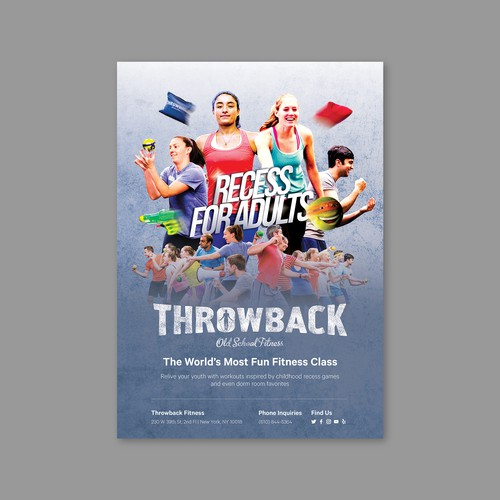 throwback fitness | flyer design