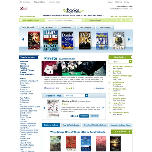 Redesign the eBooks.com homepage