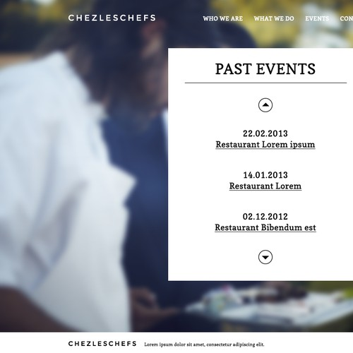 Create the website design for ChezLesChefs.com