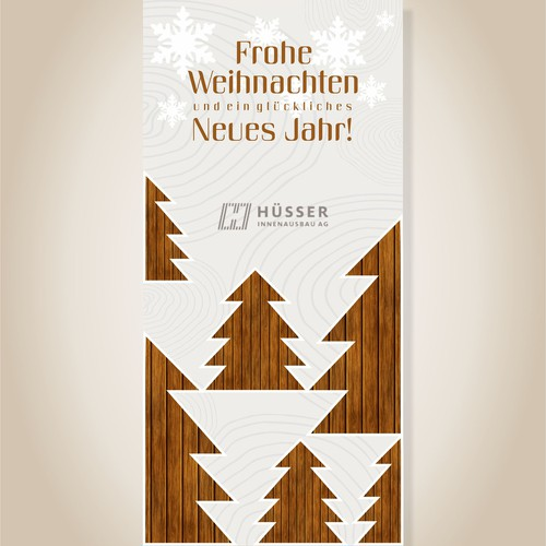 Natural Christmas card design.