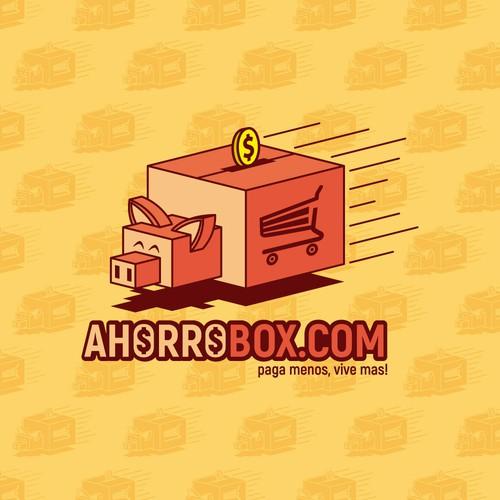 Diseño de Logotipo para la marca AHORROBOX.COM