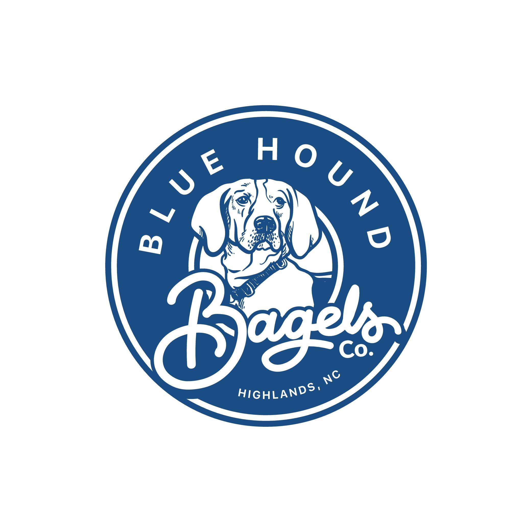 Fun Logo for Blue Hound Bagels!