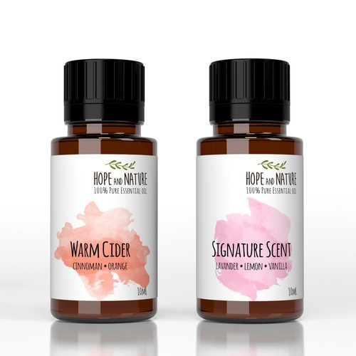 Small Label for Natural Oil Company