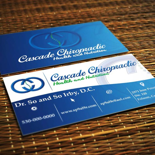 Chiropractor logo/business card