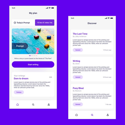 Redesign a writing app