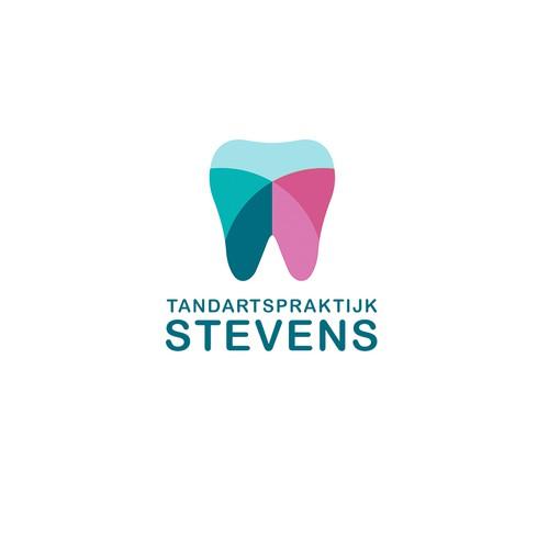 Logo voor tandartsprijktijk Stevens te Amsterdam