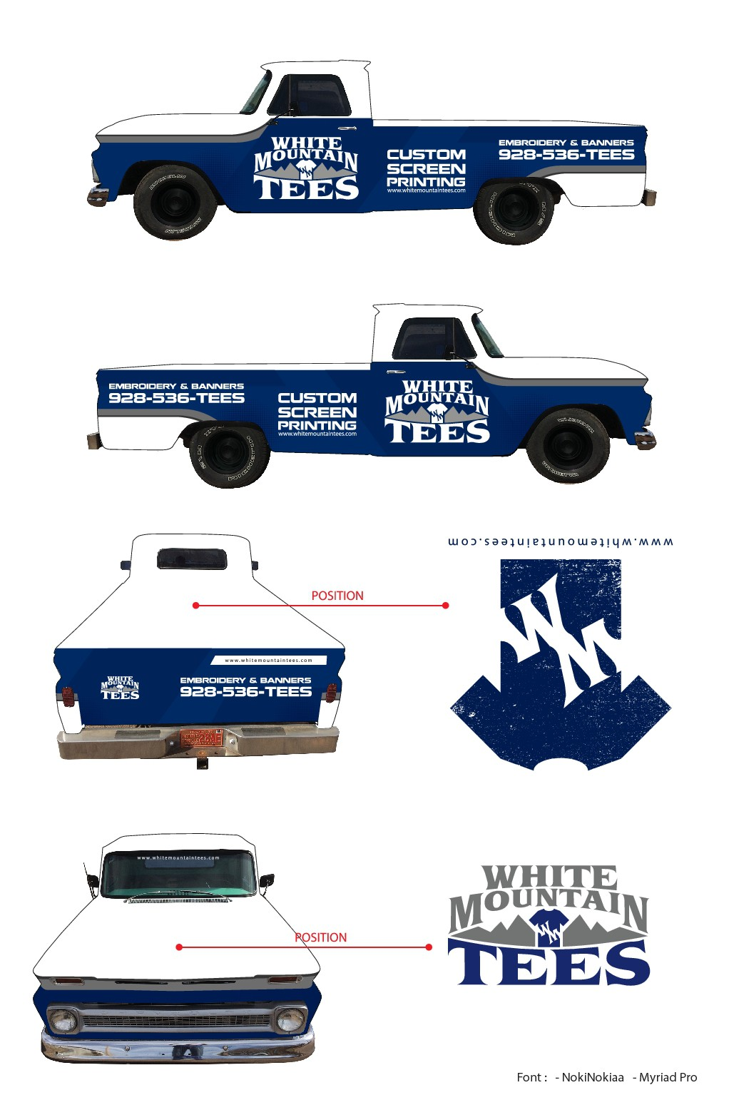 Wrap a 65 Chevy Truck - Templates provided